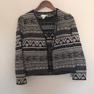 Tribal Print Jacket Cardigan Blazer